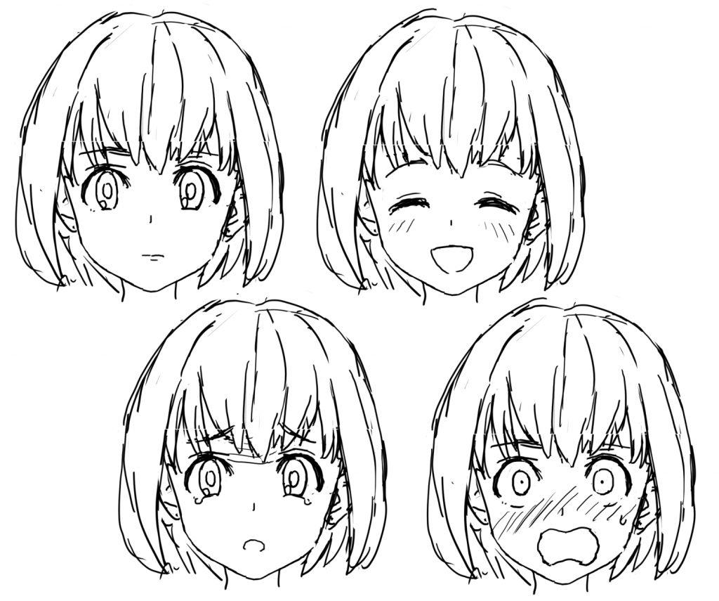 女の子の表情の描き方