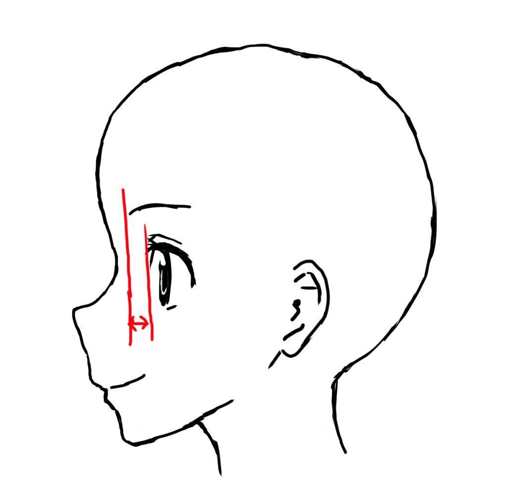 女の子 横顔 描き方 目 眉毛