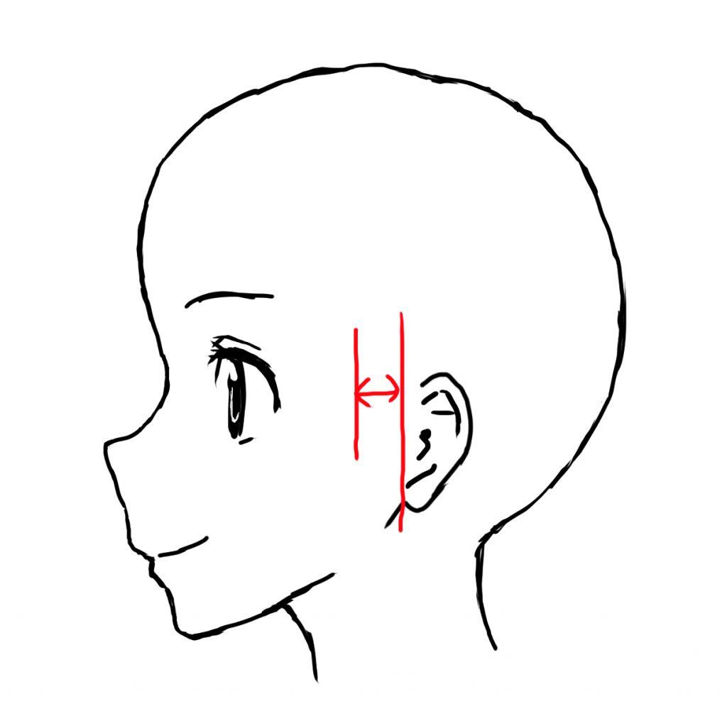 女の子 横顔 描き方 耳