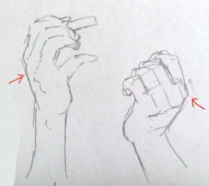 手 描き方 指