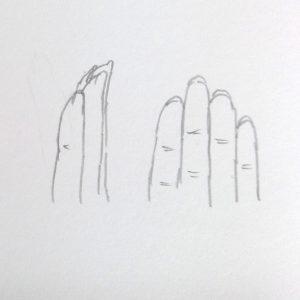 手 描き方 爪